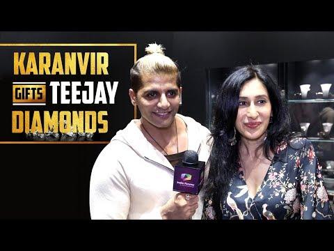 Karanvir Bohra Gifts Wife Teejay Sidhu Diamonds | India Forums | Exclusive