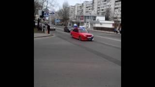 Донецк 12.04.14 Машины с флагами