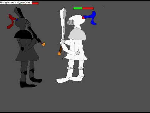 Runescape Black Knight Vs White Knight(cartoon)it's A Draw!