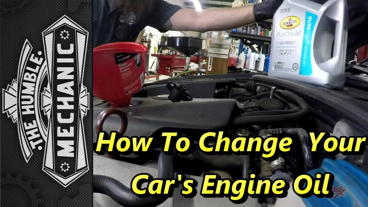 how to change your car 39 s engine oil youtube. Black Bedroom Furniture Sets. Home Design Ideas