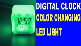 Glowing Cube LED | Color changing digital clock | Digital clock for kids