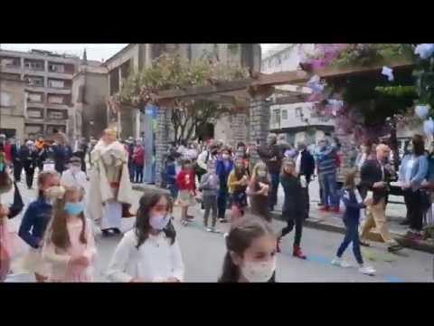 La procesión del Corpus en Ponteareas