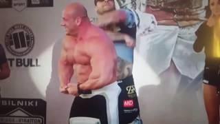 Popek vs Burneika na ważeniu KSW 39 2017 Video
