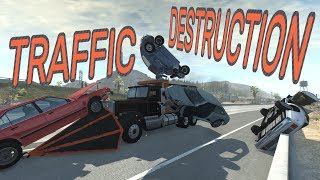 BeamNG.drive - TRAFFIC DESTRUCTION