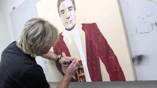 Jimmy Fallon Portrait made with Tim Hortons Coffee Cups by Eric Waugh
