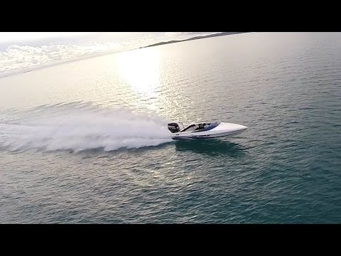 offshore speed boat New caledonia Haines Hunter 2100so Aerial footage GOPRO 4