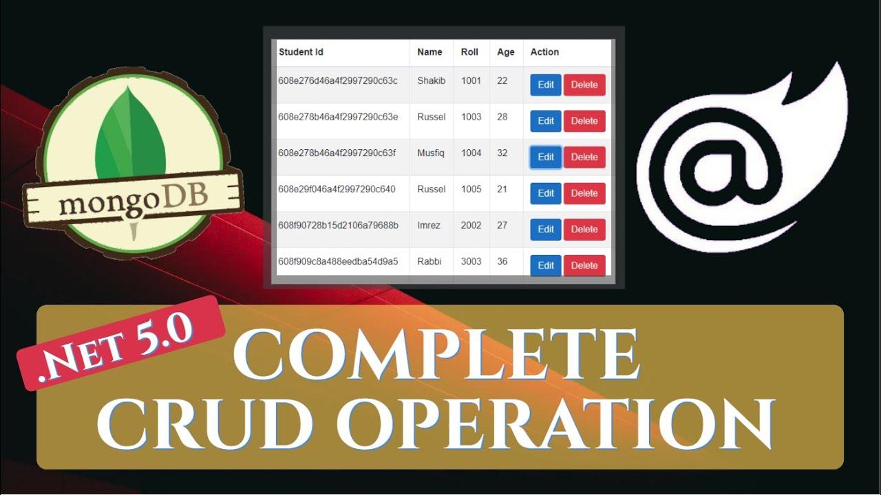 Blazor : Complete CRUD Operations with MongoDB Database    MongoDB Compass    NoSQL   