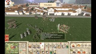 Rome Total War (PC),  Review, Gameplay, Custom Battle King Pyrrus vs. Sparta