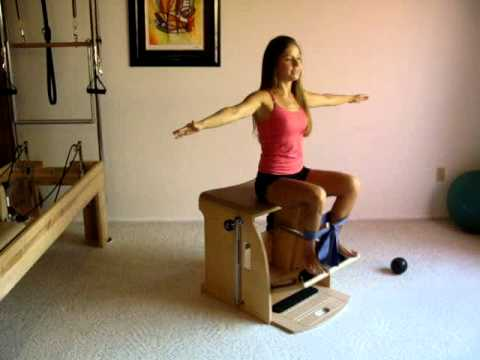 Pilates Exercises on the Chair Leg Work Sitting  YouTube