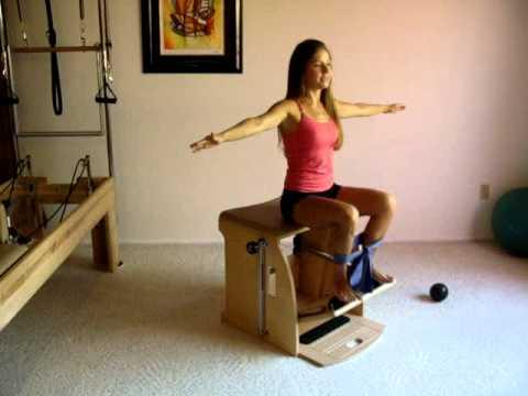 Pilates Exercises on the Chair, Leg Work Sitting - YouTube