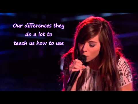 Christina Grimmie - The Voice - I Won't Give Up (Lyrics)