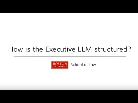 Boston University School of Law: How is the Executive LLM in International Business Law structured?