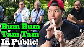 BUM BUM TAM TAM - Mc Fioti x J Balvin - SINGING IN PUBLIC!!