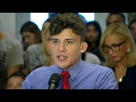 Florida school shooting survivors demand change during visit to state capital