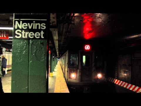 IRT Subway: R142/A (4) Train at Nevins Street