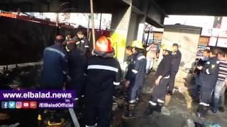 حريق قرب محطة وقود فى الدقى.. فيديو وصور