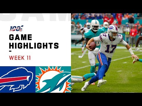 Bills vs. Dolphins Week 11 Highlights | NFL 2019