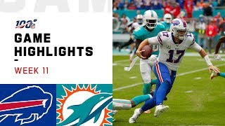 Download Bills vs. Dolphins Week 11 Highlights | NFL 2019 Mp3 and Videos