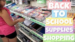 Back to School Supplies Shopping Vlog