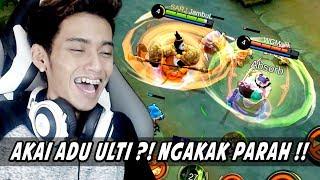 NGAKAK! AKAI ADU ULTI ft. Watchout Gaming !!! -  Mobile Legends Indonesia
