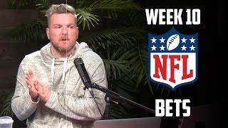 Pat McAfee's Week 10 NFL Bets