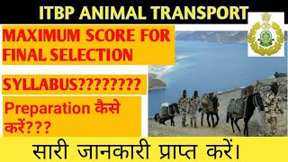 ITBP ANIMAL TRANSPORT SYLLABUS, CUTOFF, PREPARATION कैसे करें?