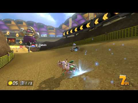 Mario Kart 8 Gameplay - Online Race #33 w/ Commentary - Leaf Cup - Wario Stadium - Pink Gold Peach