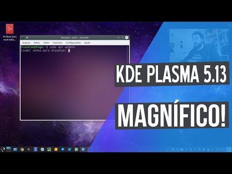 O INCRÍVEL KDE PLASMA 5.13 E SEU BLUR!