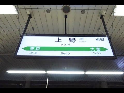 【4K乗換動画】JR上野駅 新幹線ー7 8番線 常磐電、上野東京ライン 乗換え