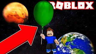 OUR GIANT BALLOON CAME OUT of the PLANET in ROBLOX