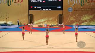 Czech Republic (CZE) - 2018 Rhythmic Worlds, Sofia (BUL) - Qualifications 3 Balls + 2 Ropes