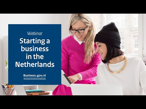 Webinar: Starting a business in the Netherlands