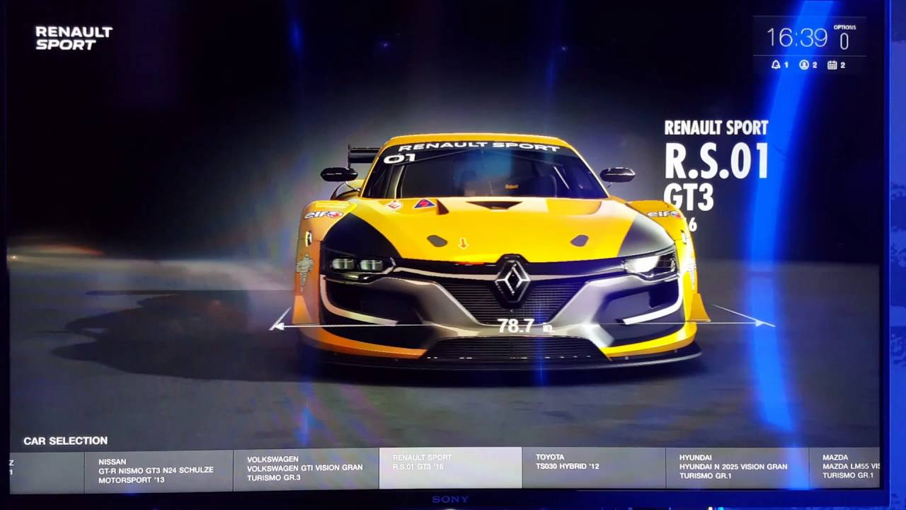 Gran Turismo Sport Cars >> Gran Turismo Sport Demo Car List Menu