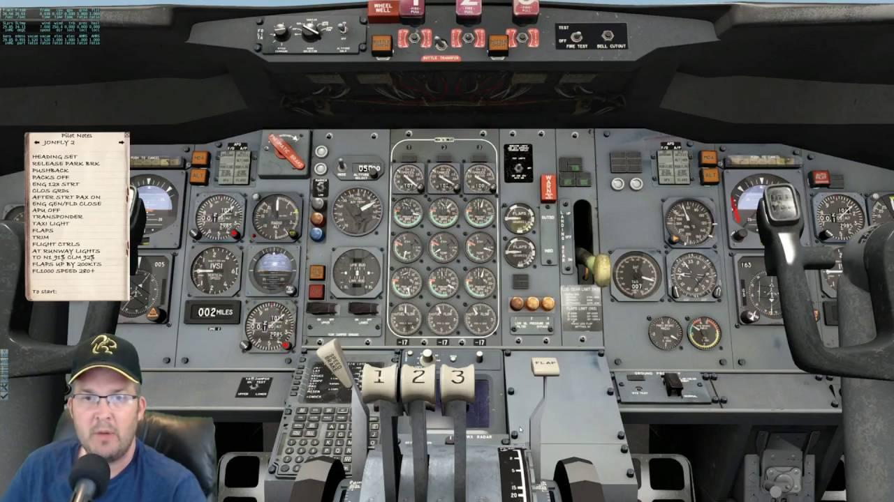 Video JonFly FlyJSim 727 v2 LOOP8 Departure Pilotedge KLAX to KLAS X