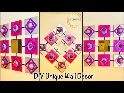 Unique wall decoration ideas| gadac diy| wall hanging craft ideas| diy crafts| wall decor| diy