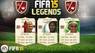 FIFA 15 NEW LEGENDS - Bobby Moore, Roberto Carlos & Jay-Jay Okocha Player Predictions