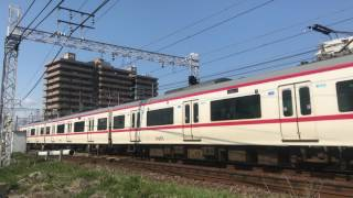 【鉄道動画】今伊勢~一宮にて 名鉄2200系(2300系)通過シーン