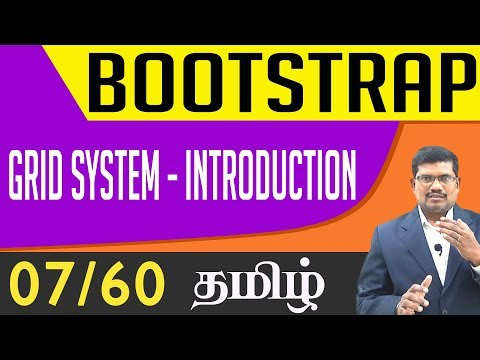 #7 Understanding Bootstrap Grid System || Bootstrap In Tamil