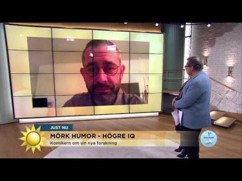 Svart humor - då har du högre IQ? - Nyhetsmorgon (TV4)