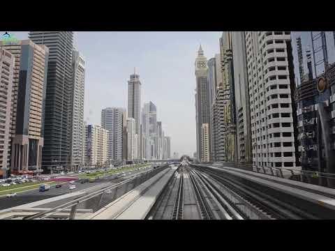 Dubai City Tour by Metro Train 2018 - From Al Jafiliya Station to Burj Khalifa / Dubai Mall