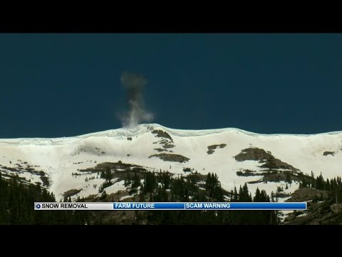 CDOT performs avalanche mitigation to open Independence Pass