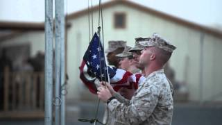 Marines Raise Flags to Remember September 11th, 2001