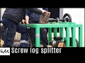 Screw log splitter