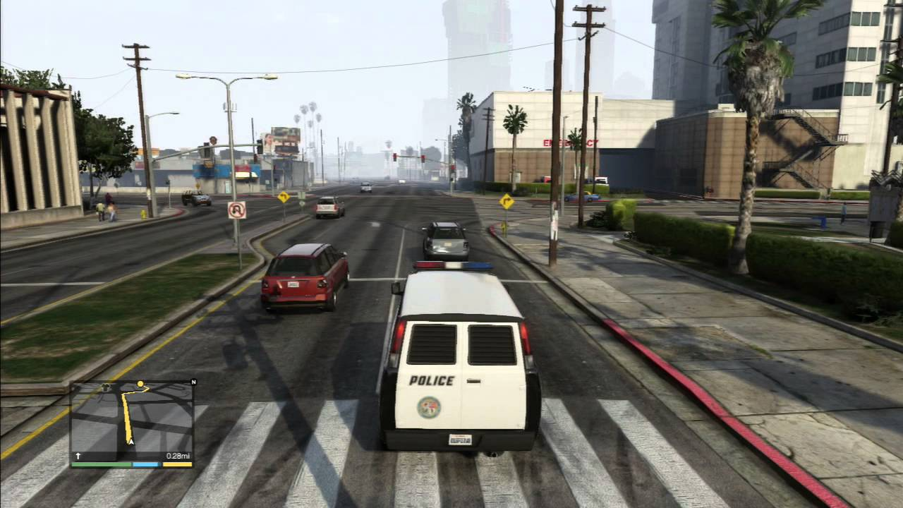 grand theft auto 5ive : spike strips the easy way - YouTube
