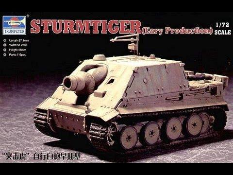 Trumpeter 1//72 German Brummbar Late Production Tank