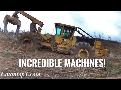 How I shovel trees with my John Deere 2154d