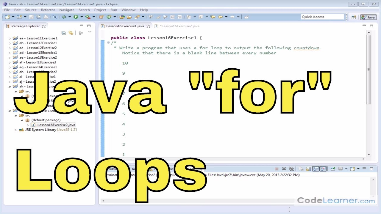 Exercises Loop In Java   20/20