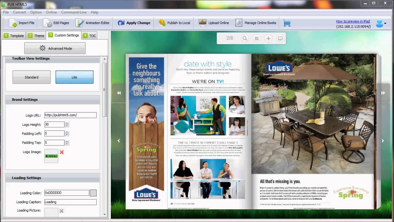 PUB HTML5 Free Digital Flipbook Publishing Solution for Mac Users