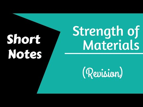 Strength of Materials | Short Notes Revision | GATE/IES