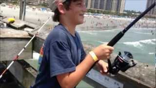 HUGE Blacktip Shark Fishing from the Pier: Myrtle Beach
